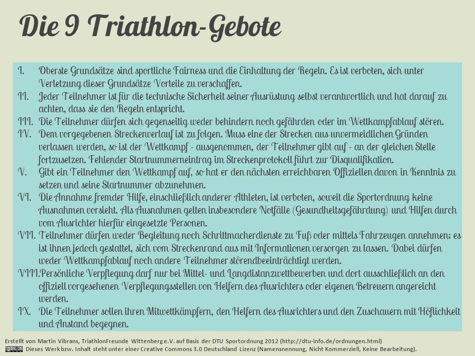 Die 9 Triathlon-Gebote