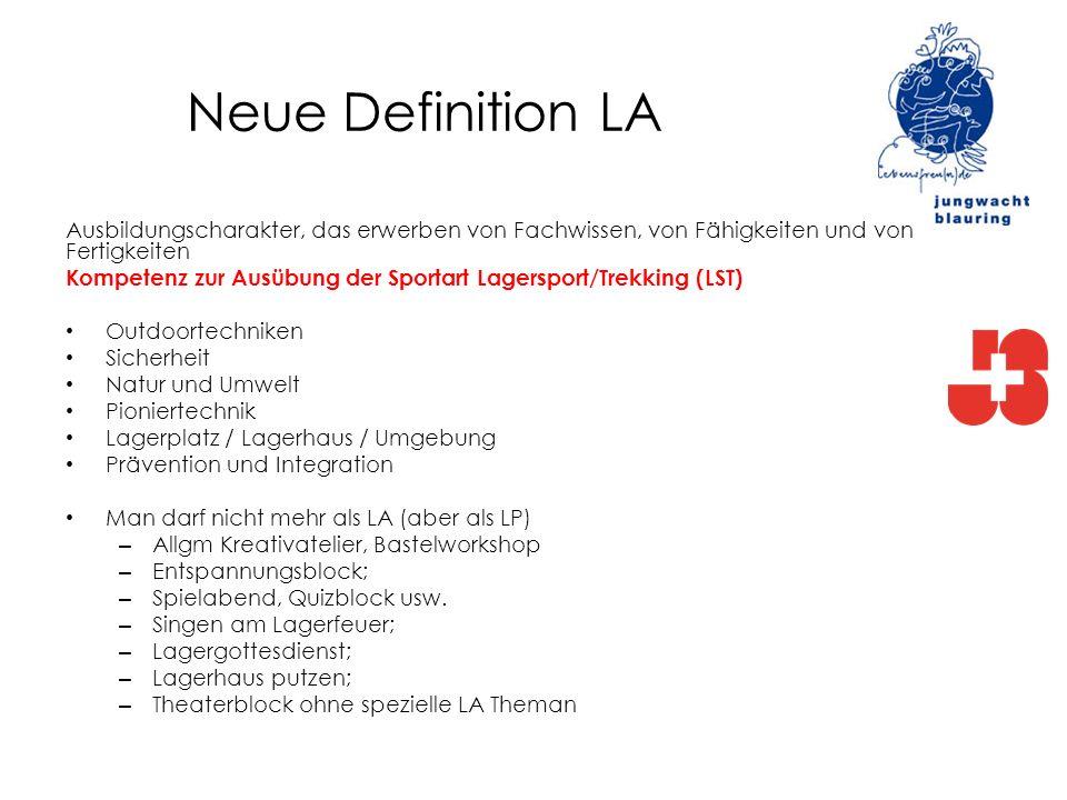 Neue Definition LA Ausbildungscharakter, das erwerben von Fachwissen, von Fähigkeiten und von Fertigkeiten.