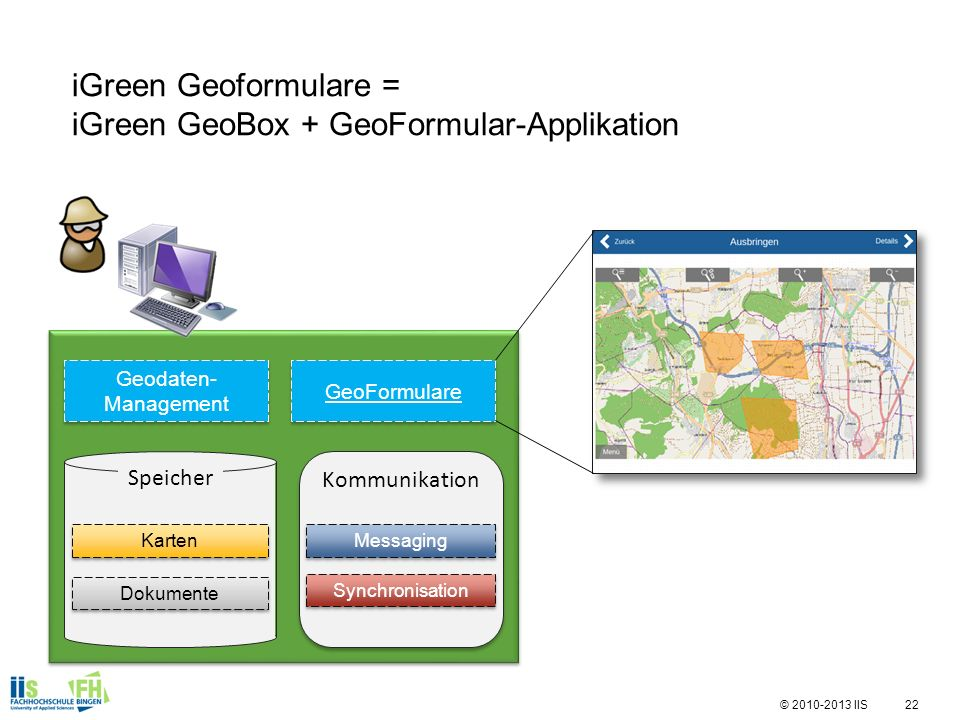 iGreen Geoformulare = iGreen GeoBox + GeoFormular-Applikation