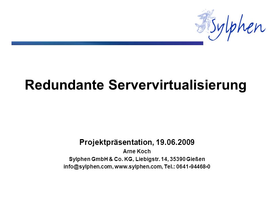 Redundante Servervirtualisierung