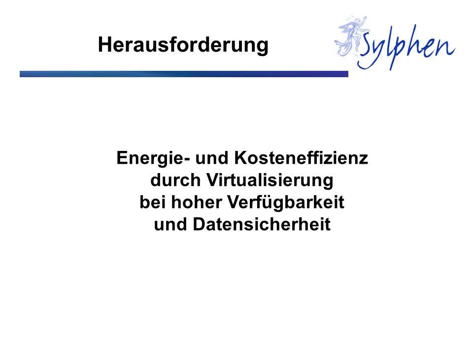 Herausforderung Energie- und Kosteneffizienz durch Virtualisierung
