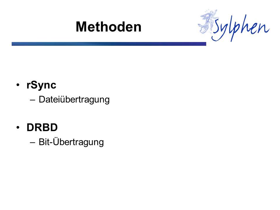 Methoden rSync Dateiübertragung DRBD Bit-Übertragung