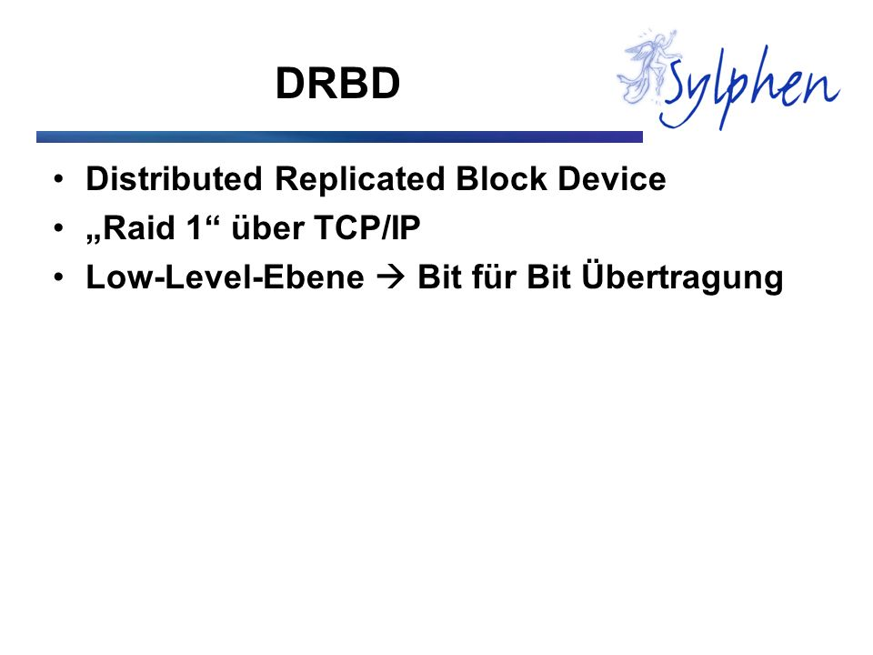 "DRBD Distributed Replicated Block Device ""Raid 1 über TCP/IP"