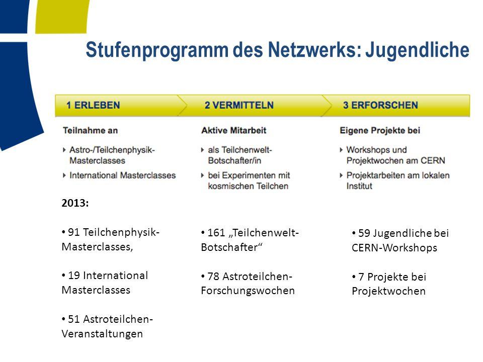 Stufenprogramm des Netzwerks: Jugendliche