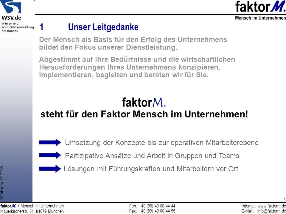 faktorM. steht für den Faktor Mensch im Unternehmen!
