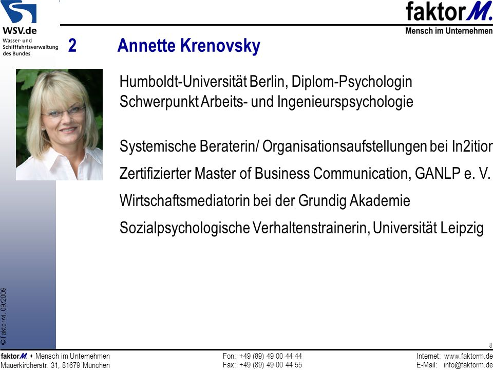 2 Annette Krenovsky Humboldt-Universität Berlin, Diplom-Psychologin