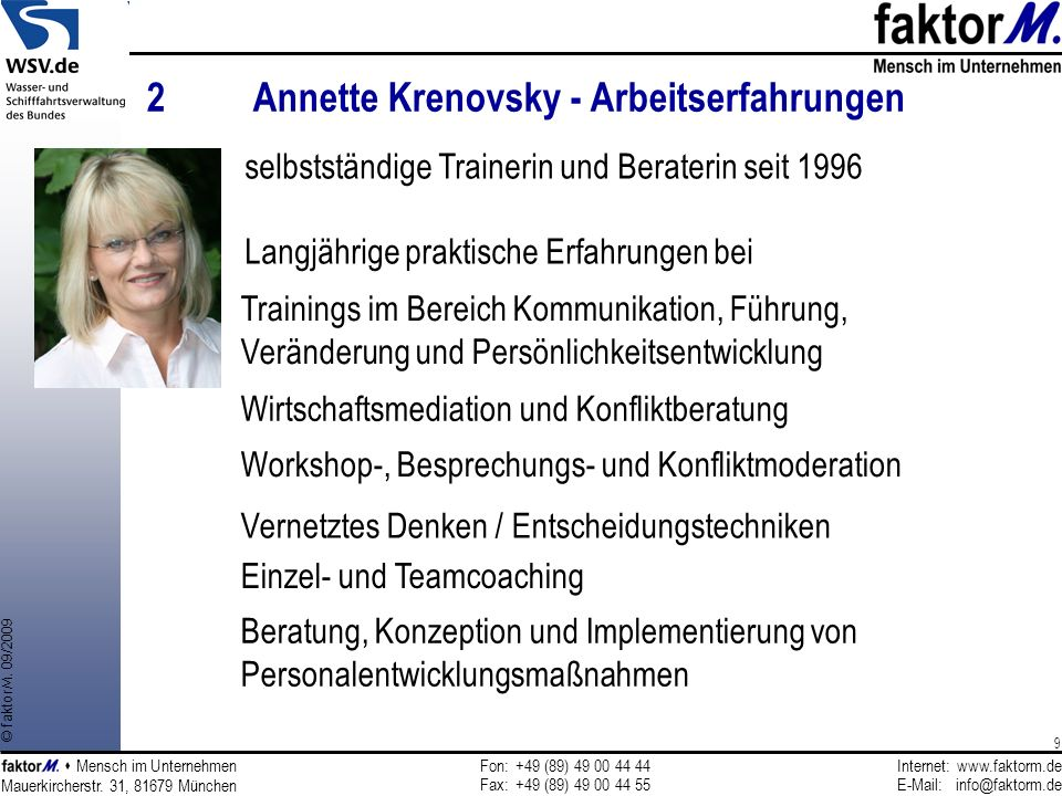 2 Annette Krenovsky - Arbeitserfahrungen