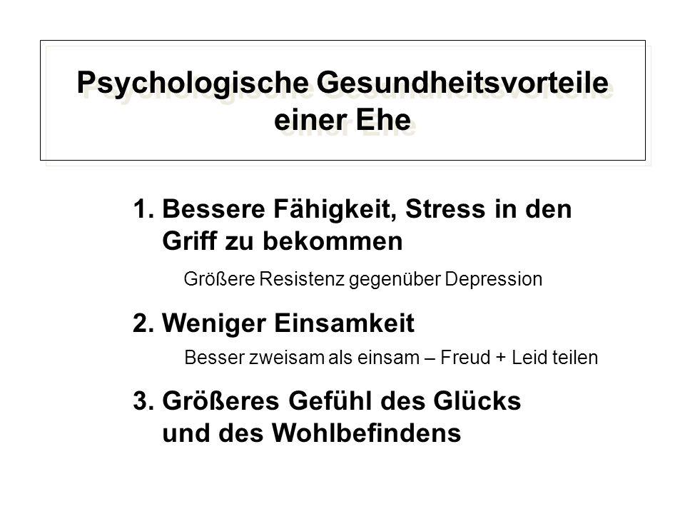 Psychologische Gesundheitsvorteile