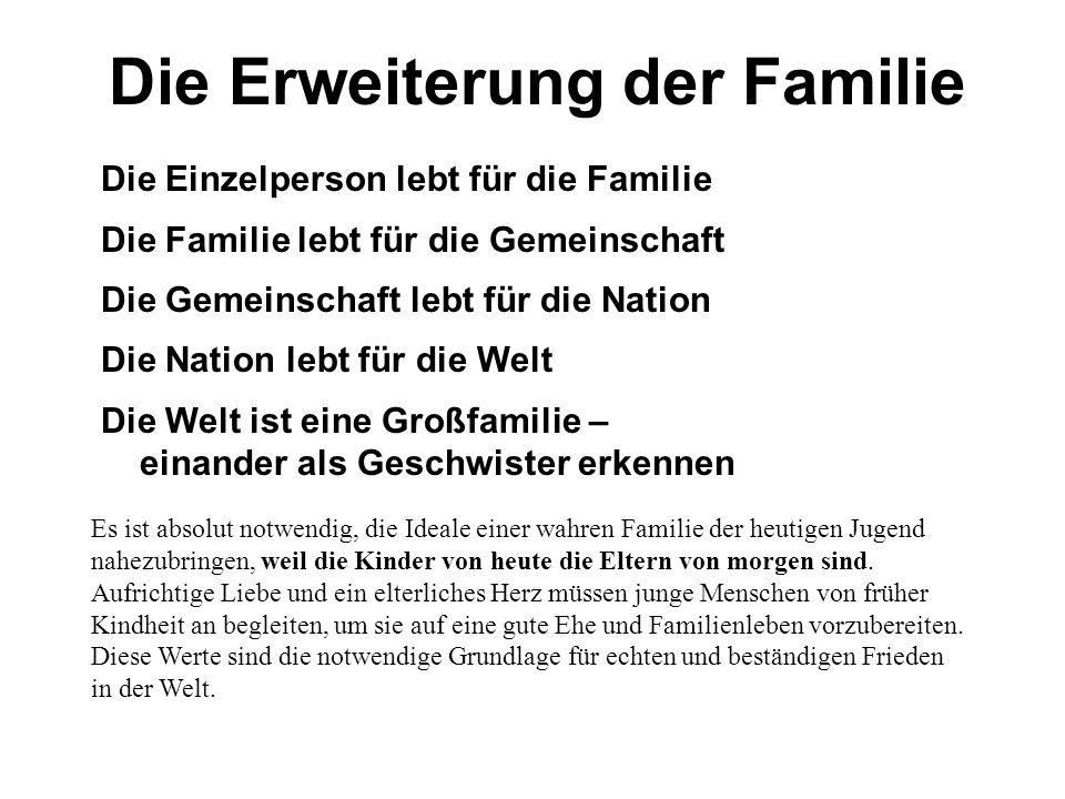 Die Erweiterung der Familie