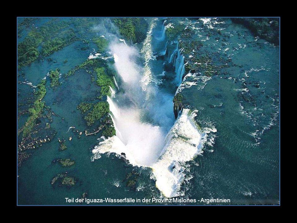 Teil der Iguaza-Wasserfälle in der Provinz Misiones - Argentinien