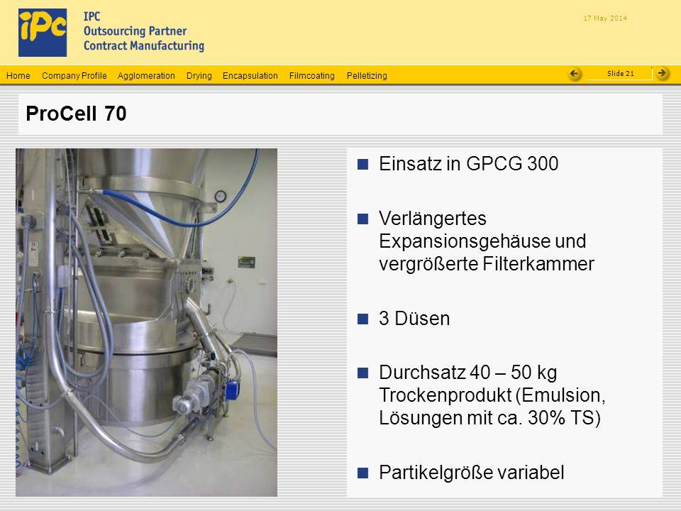 ProCell 70 Einsatz in GPCG 300