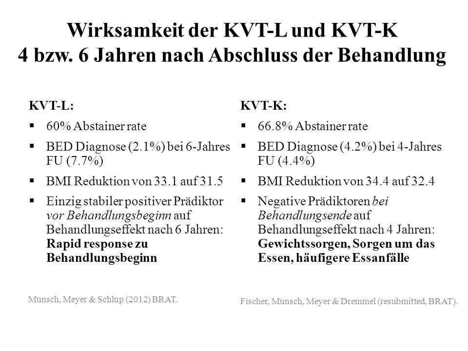 Wirksamkeit der KVT-L und KVT-K 4 bzw