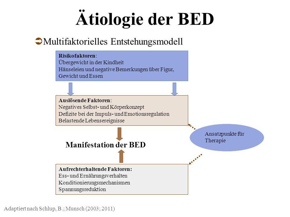 Ätiologie der BED Multifaktorielles Entstehungsmodell