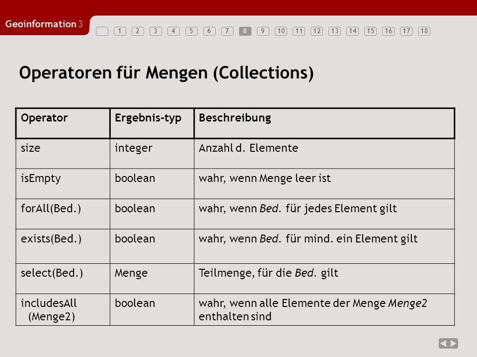 Operatoren für Mengen (Collections)