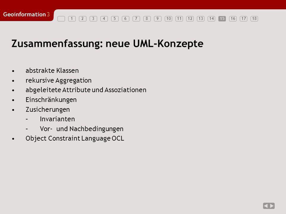 Zusammenfassung: neue UML-Konzepte