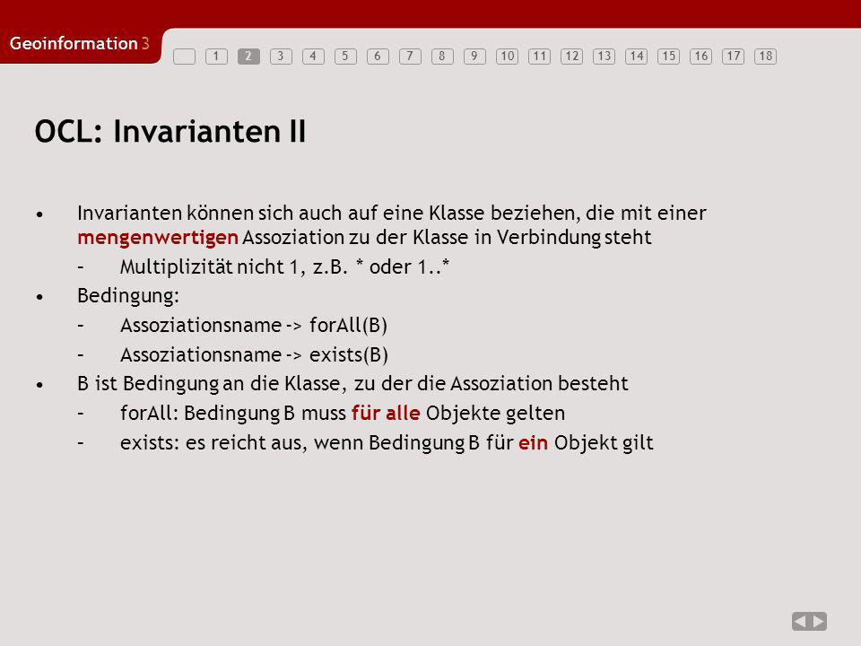 2 OCL: Invarianten II.