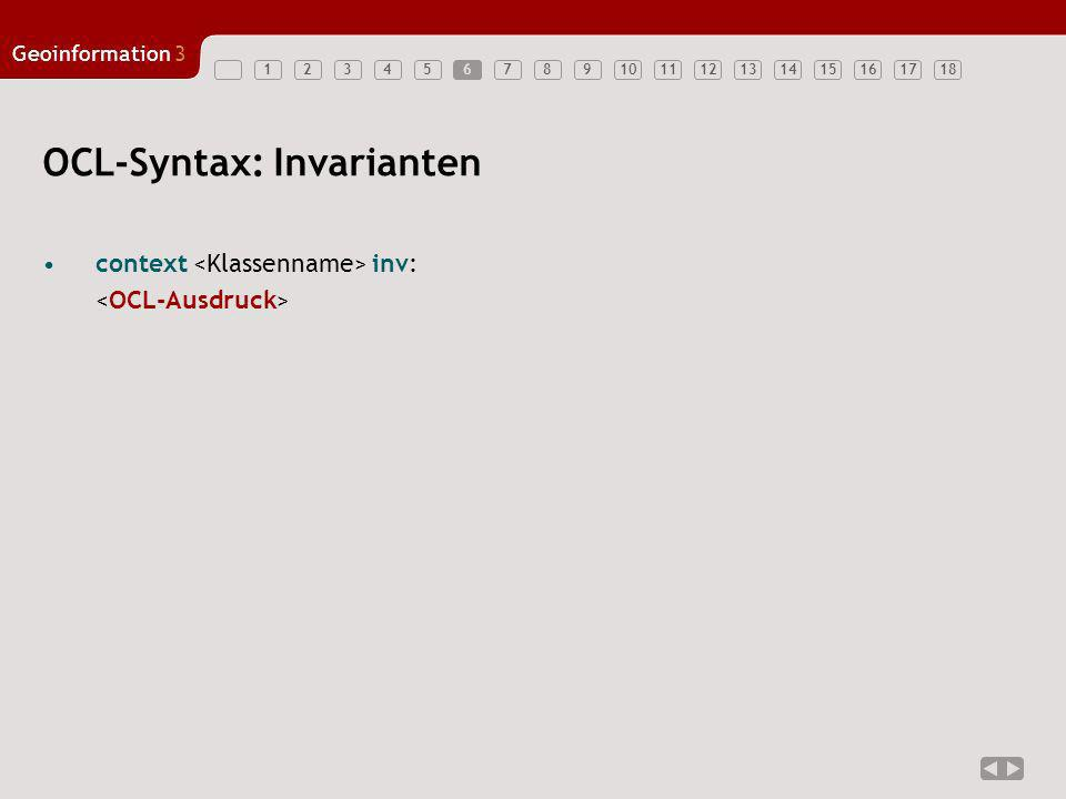 OCL-Syntax: Invarianten