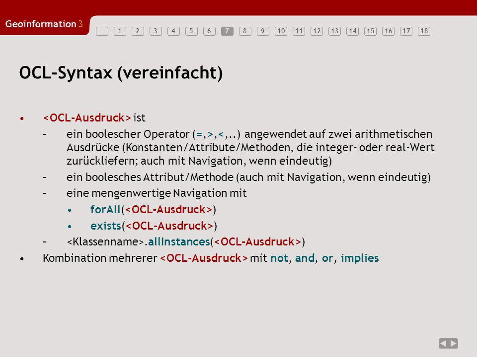 OCL-Syntax (vereinfacht)