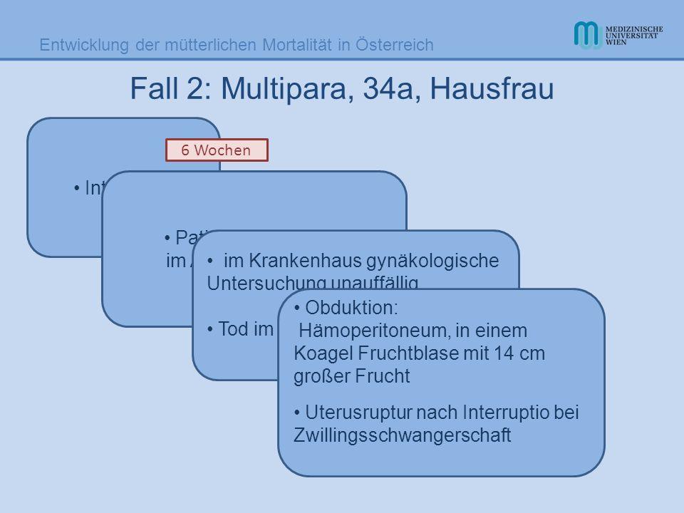 Fall 2: Multipara, 34a, Hausfrau