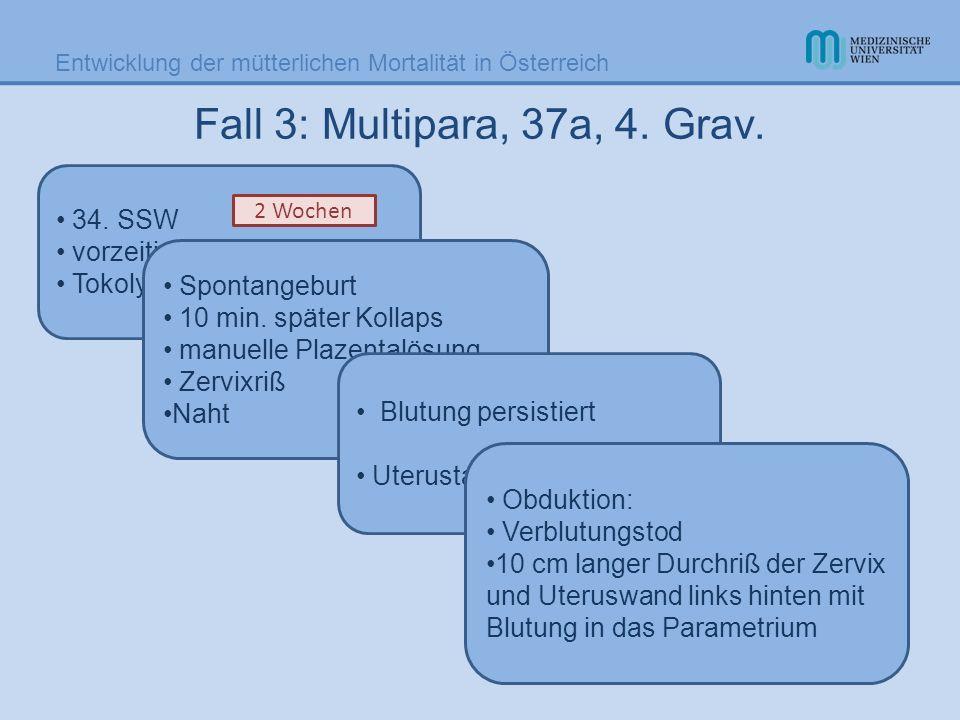 Fall 3: Multipara, 37a, 4. Grav. 34. SSW vorzeitiger Blasensprung