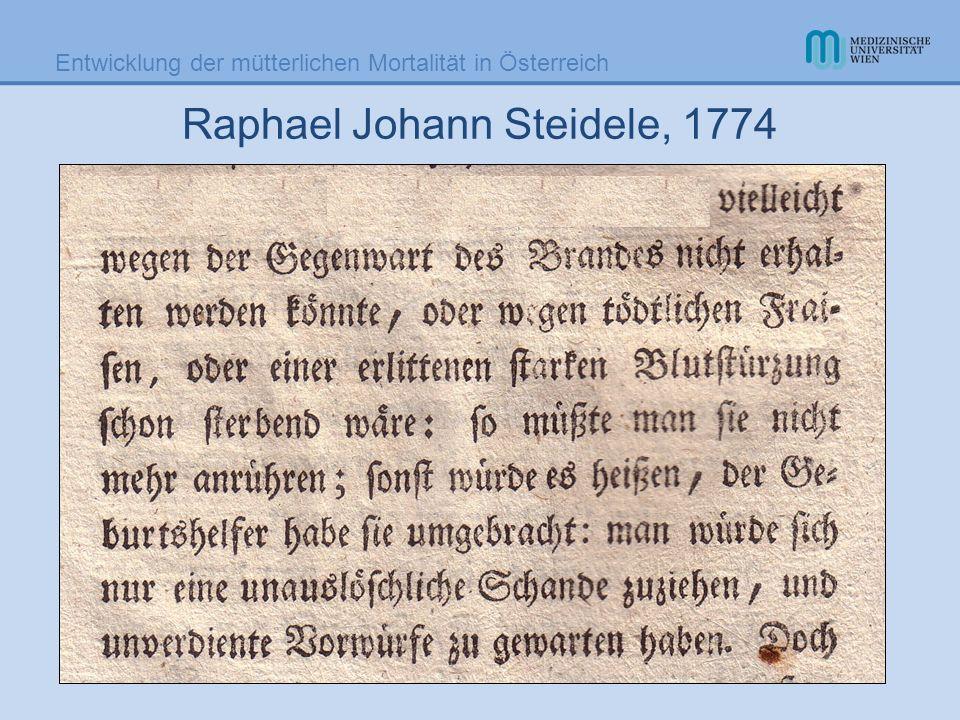 Raphael Johann Steidele, 1774