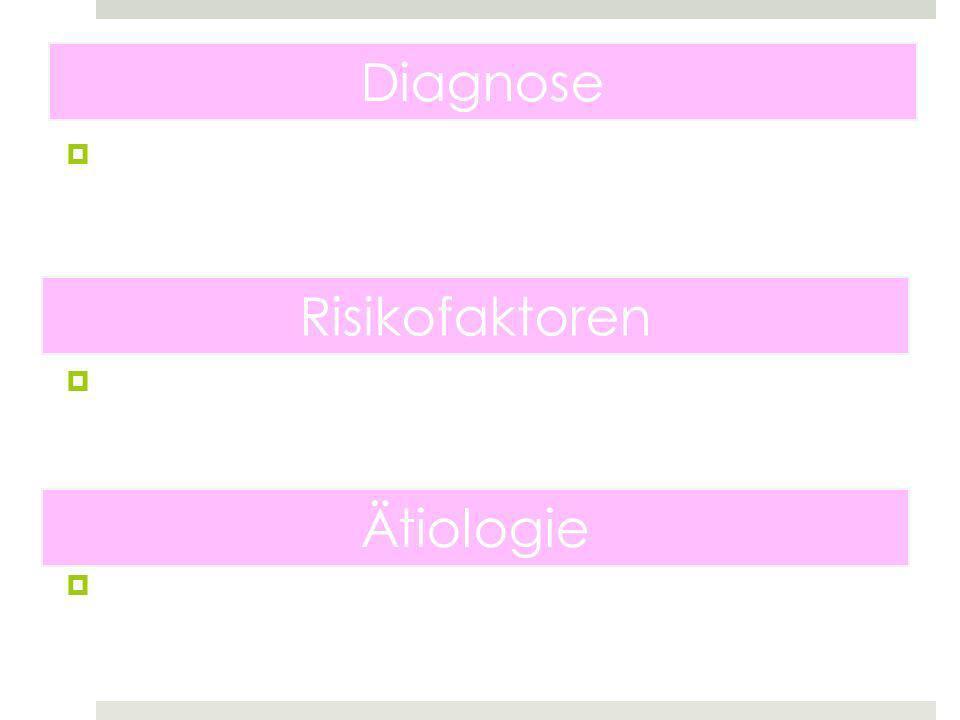 Diagnose Risikofaktoren Ätiologie