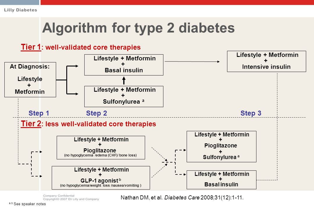 Algorithm for type 2 diabetes