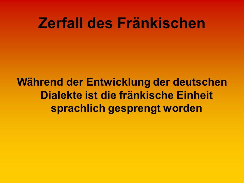 Zerfall des Fränkischen