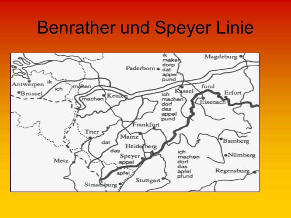 Benrather und Speyer Linie