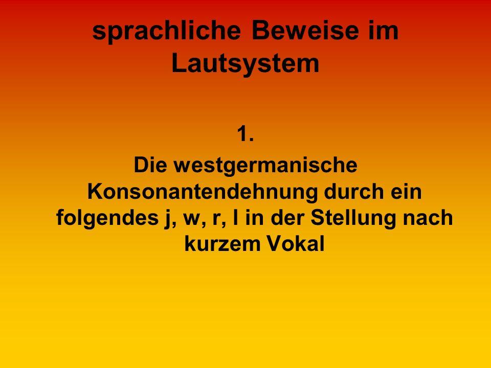 sprachliche Beweise im Lautsystem