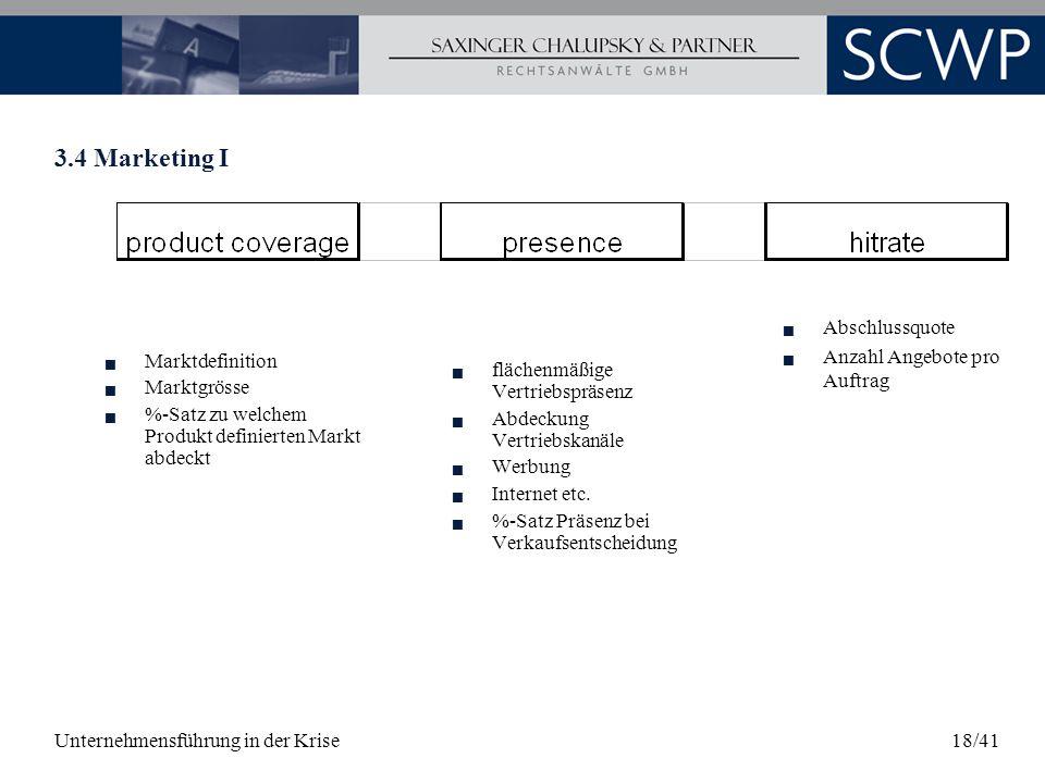 3.4 Marketing I Abschlussquote Anzahl Angebote pro Auftrag