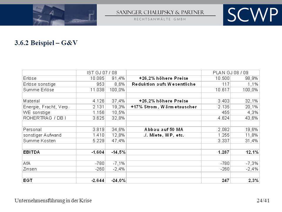 3.6.2 Beispiel – G&V Unternehmensführung in der Krise