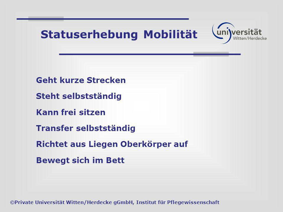 Statuserhebung Mobilität