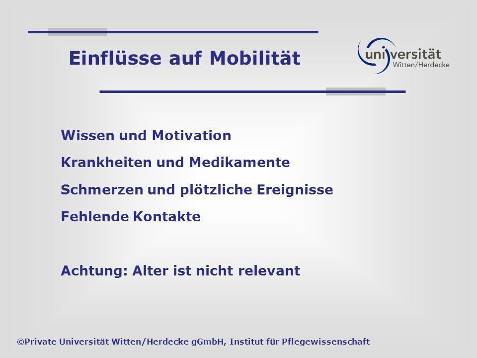 Einflüsse auf Mobilität