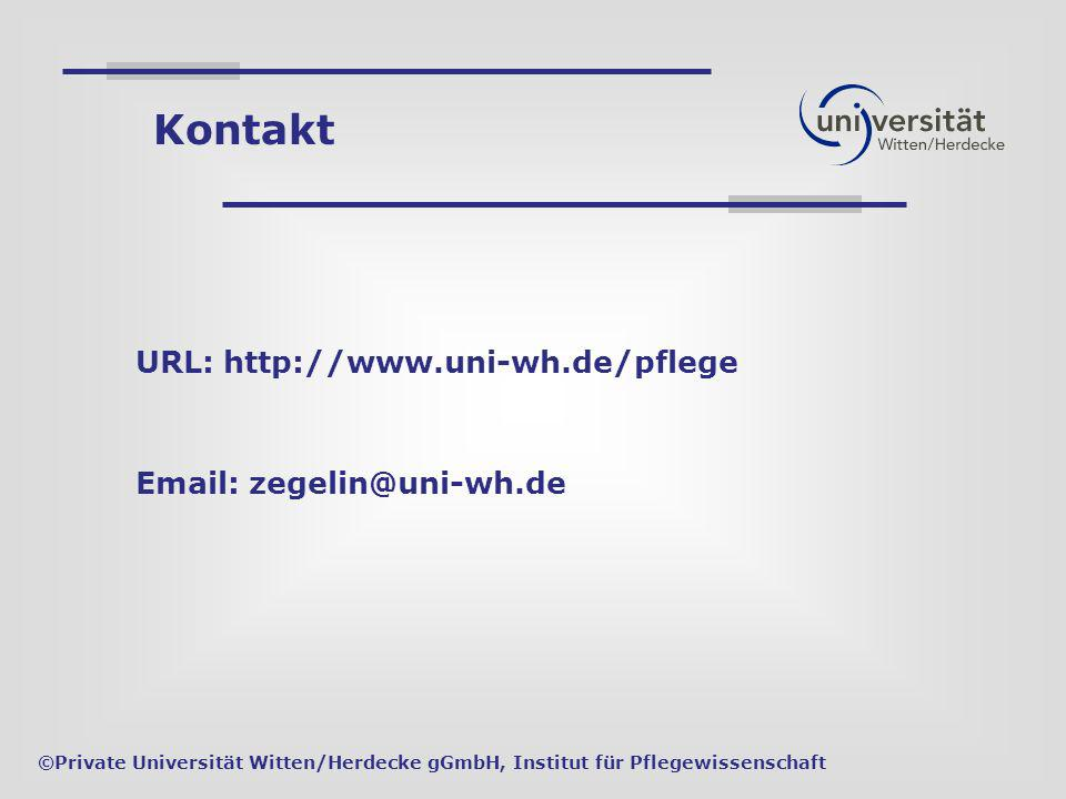 Kontakt URL: http://www.uni-wh.de/pflege
