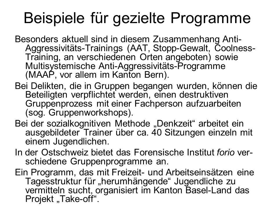 Beispiele für gezielte Programme