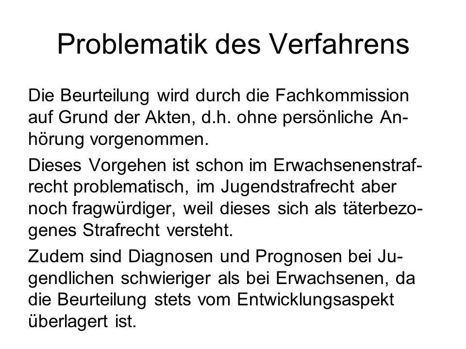 Problematik des Verfahrens