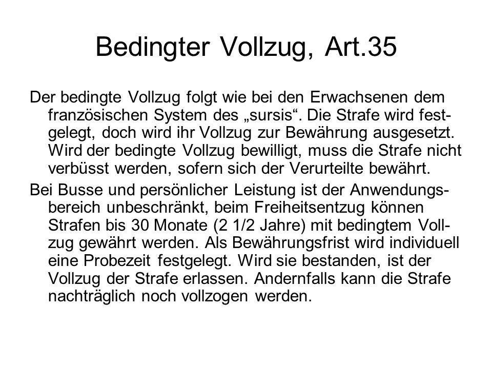 Bedingter Vollzug, Art.35