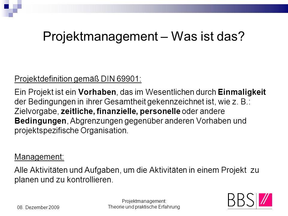 Projektmanagement – Was ist das