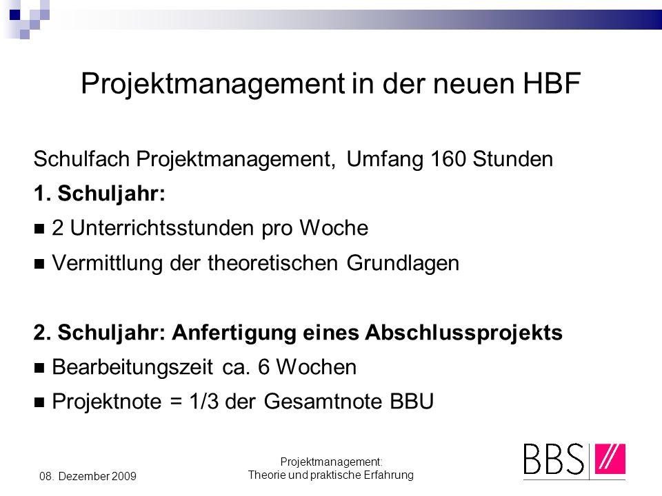 Projektmanagement in der neuen HBF
