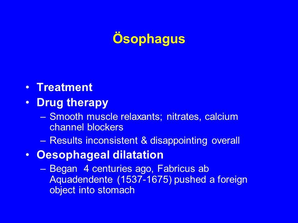 Ösophagus Treatment Drug therapy Oesophageal dilatation