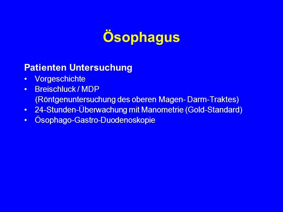 Ösophagus Patienten Untersuchung Vorgeschichte Breischluck / MDP
