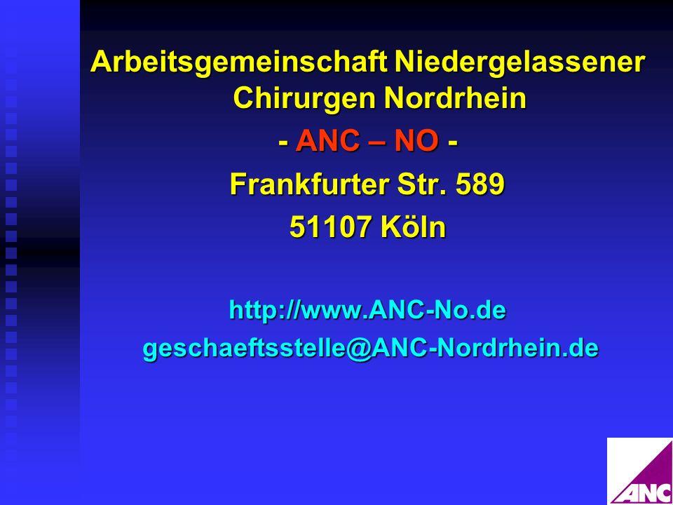Arbeitsgemeinschaft Niedergelassener Chirurgen Nordrhein