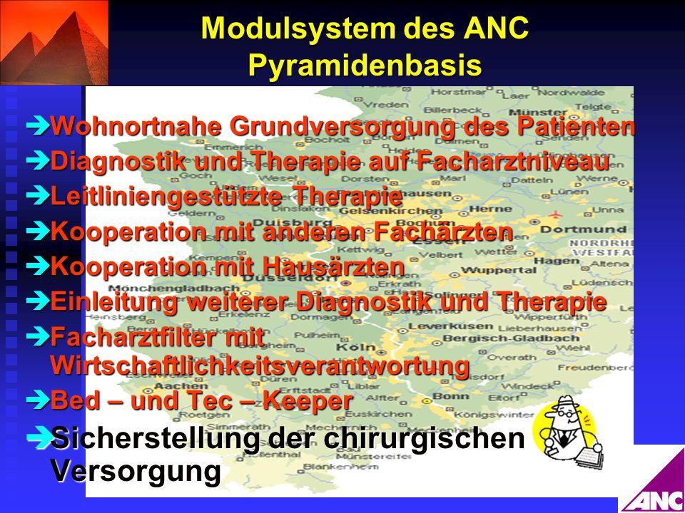 Modulsystem des ANC Pyramidenbasis
