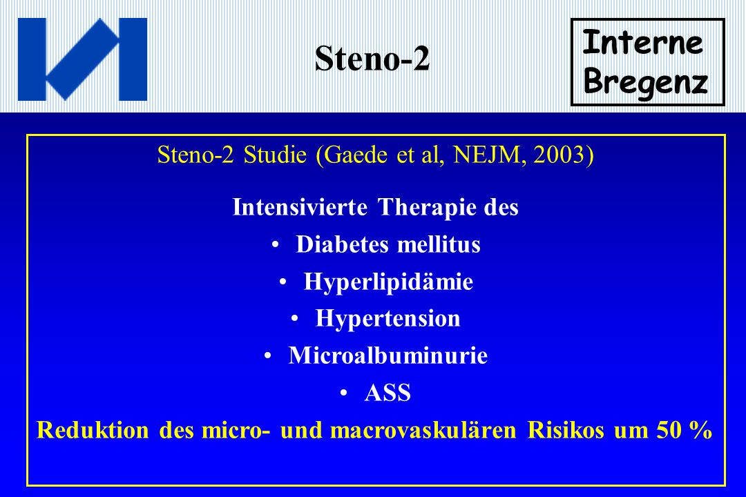 Steno-2 Interne Bregenz Steno-2 Studie (Gaede et al, NEJM, 2003)