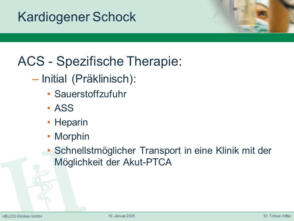 ACS - Spezifische Therapie: