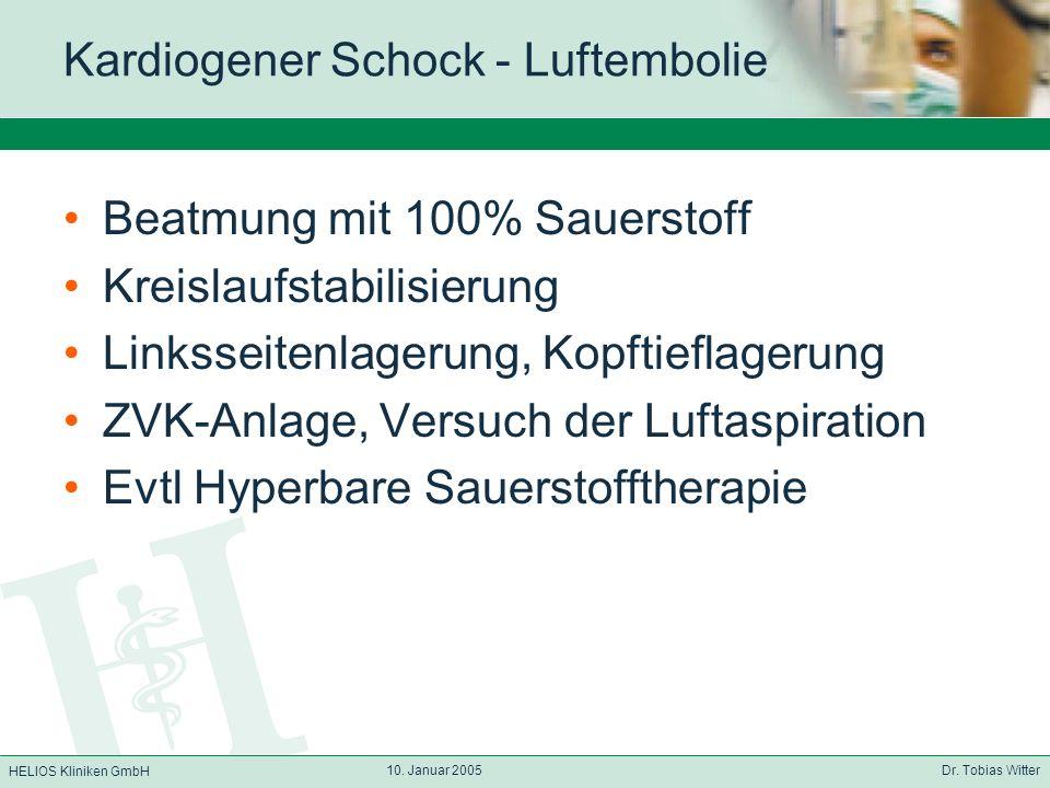Kardiogener Schock - Luftembolie