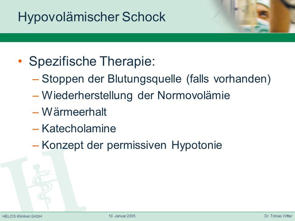 Hypovolämischer Schock