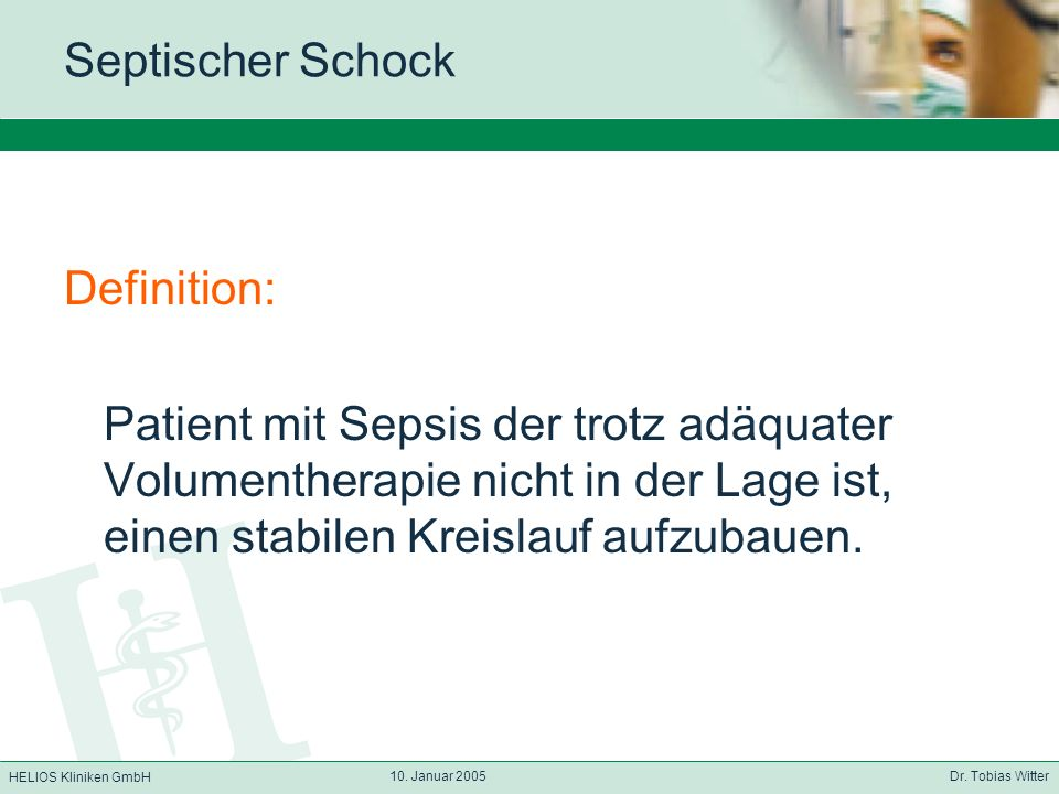 Septischer Schock Definition: