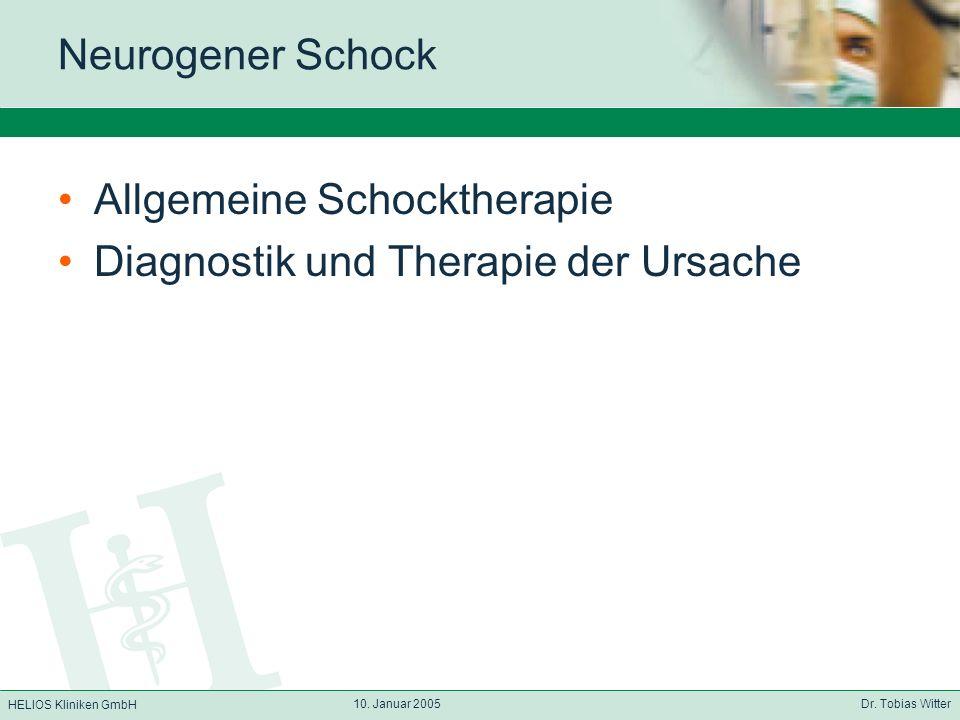 Allgemeine Schocktherapie Diagnostik und Therapie der Ursache